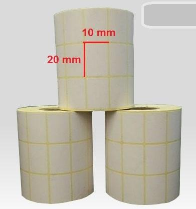 لیبل کاغذی 10 × 20