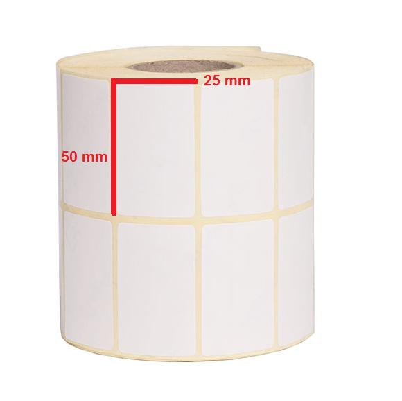 لیبل کاغذی 50 × 25