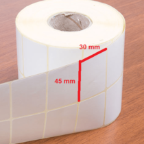 لیبل کاغذی 50 × 30