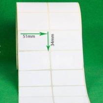 لیبل کاغذی 51 × 34
