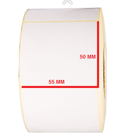 لیبل کاغذی 50 × 55
