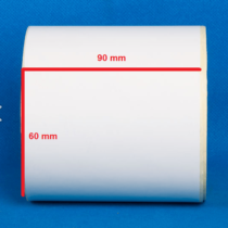 لیبل کاغذی 90 × 60