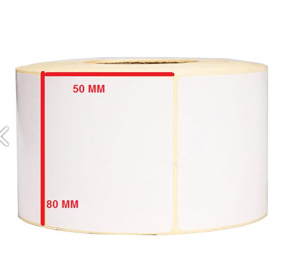 لیبل کاغذی 80 × 50