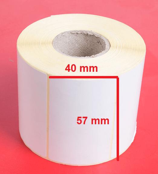 لیبل حرارتی 57 × 40